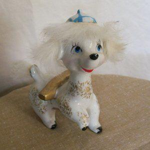 VTG Lipper & Mann Ceramic Furry Poodle Figurine